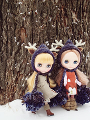 ADAD 20/365: two blue deer hats