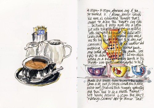110122 Sketchcrawl 30_10 Afternoon Tea