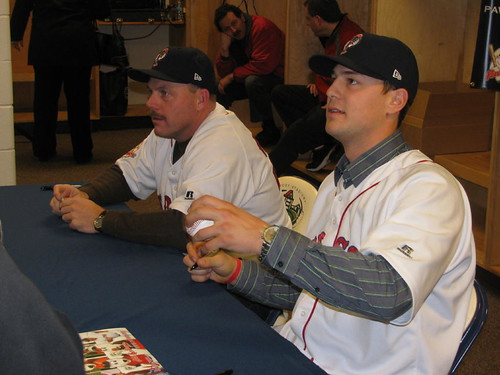 Beyeler (left), Ryan Lavarnway (right) -- TJ Perrini