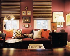194823-14-04EKB (mscott218) Tags: pink windows orange brown art lamp design interiors gallery purple floor designer interior stripes shades livingroom kathryn mauve tray walls boyd eileen interiordesign eclectic tablescape lonny