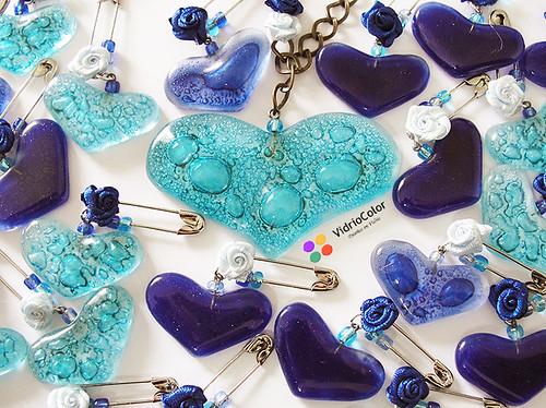 Collar central - Prendedores para Azul