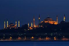 Ayasofya & Sultanahmet (Sinan Doan) Tags: church turkey nikon trkiye istanbul bluemosque hagiasophia sultanahmet gece ayasofya sultanahmetcamii bizans sinandoan istanbulgece istanbulcamileri nikond300s bizansdnemi