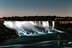 Niagara Falls (lnoelle89) Tags: niagara falls niagarafalls ontario canada glacier waterfall fall water blue nightitme night time stoptime timestops neutraldensity nuetraldensity canon canon6d canonphotography canonofficial canoncanon eos sky fast moving river
