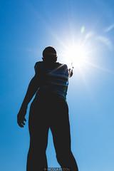 Selfie flare (Nicola Pezzoli) Tags: selfie flare sun nature silhouette isuledda san teodoro sardegna olbia sardinia italy summer canon blue colors