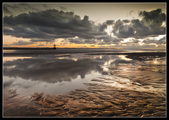 Mersey Mouth, Crosby Beach. Explore Frontpage (Ianmoran1970) Tags: sky cloud sun reflection beach river golden sand teddy boots shapes explore getty after frontpage mersey crosby showme aftersun muddyboots explored ianmoran ianmoran1970