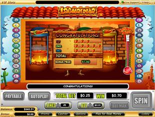 free La Cucaracha slot bonus prize