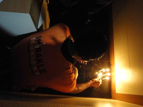 floor candles