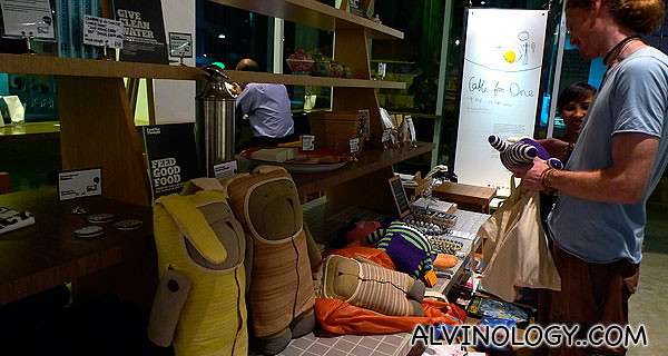 There's a dedicated corner to sell some handicrafts and artworks by local designers