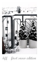 ~ hff~ first snow edition (Iro {Ivy style33}) Tags: houses white ikea home roofs veranda firstsnow littletrees thepenthouse welivehere happyfencefriday ~hff~ photographythroughivyseyes ~hff~firstsnowedition