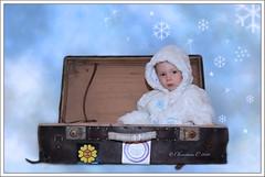 Lleg el fro !! (Christian Callejas) Tags: boy baby flores azul canon nieve modelo nubes refugio guapo helado frio maleta iker copos osito abrigo capucha calentito 1000d yokusho