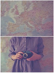 (_acido) Tags: world travel blue light cold vintage lomo europe map shirts diana change click utumn canoneos450d