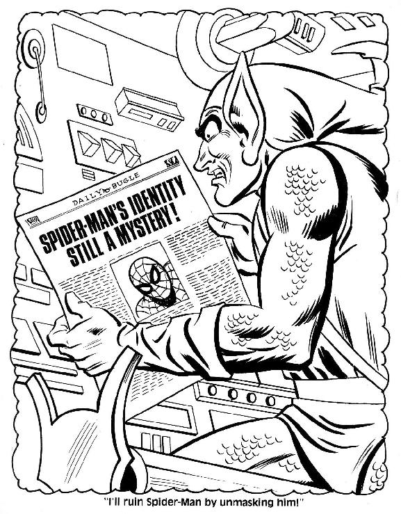Spider-Man Unmasked! Coloring Book012