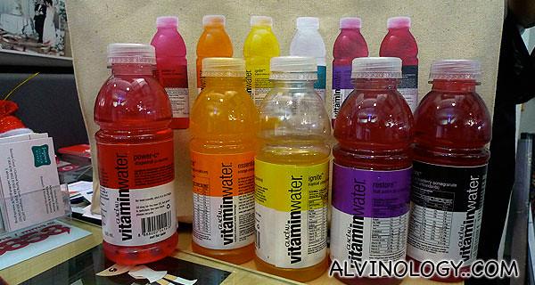 My Vitaminwater samples