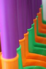Spades for the Beach (Pepps7) Tags: orange colour green purple plastic spade