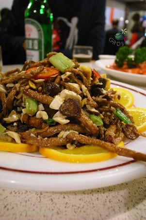 柳松菇炒鹹蛋