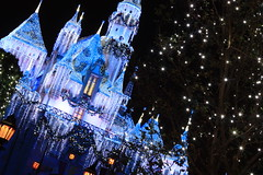 Sleeping Beauty's Winter Castle: Holiday Sparkle (PrincessAshley) Tags: california christmas blue winter decorations light sleeping white holiday snow castle castles beauty yellow night canon dark stars rebel 50mm lights star evening la losangeles mainstreet holidays disneyland magic decoration twinkle disney christmaslights led explore nighttime socal icicle southerncalifornia anaheim f18 18 oc decor magical icicles themepark sleepingbeauty magickingdom fantasyland xsi thehub litup flickrexplore explored sooc disneyparks sleepingbeautyswintercastle