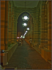 Towards Hope... (. Mountain ~~ Biker .) Tags: road street old light history museum night walking lost foot al dubai alone fuji post path walk uae f30 processing sharjah souq islamic mujarrah