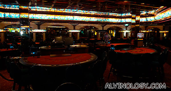 The casino was closed, but we get to look around