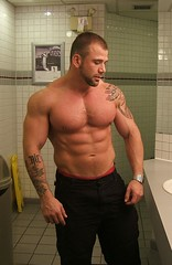 Hunk in the bathroom (xxxlilithxxx) Tags: man hot cute sexy men jock pecs big muscle muscular wrestling hunk huge strong bodybuilder biceps abs stud hunky hunks hottest