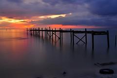 Sri Menanti at Dusk (The JASS) Tags: sunset nature landscape fishermen dusk jetty sri malaysia slowshutter jawa johor senja muar jeti parit nelayan menanti jasni