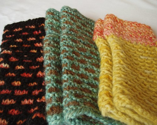 collection of wristwarmers