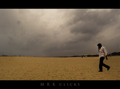 The Rain maker | Panorama (MRK Clicks) Tags: panorama beach rain clouds marina stitch madras chennai seashore rainmaker mrk manwalking d40 9images chennaimarina mrkclicks