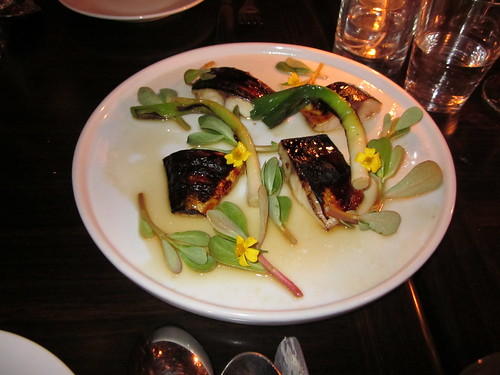 Ludobites 6.0 (at Max), Sherman Oaks, CA - December 2010 - Marinated Mackerel, Leche Del Tigre, Baby Leeks, Verdolagas Leaves