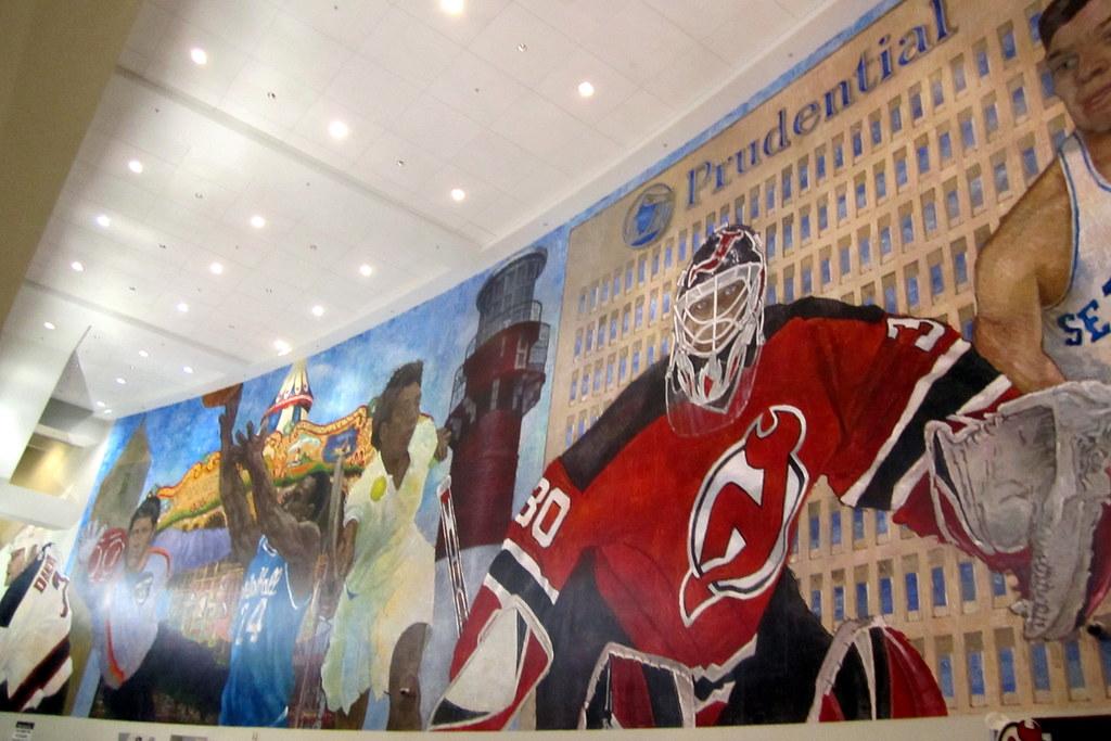 NJ - Newark: Prudential Center - The Mural