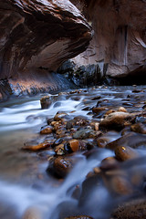 Peaceful Waters (Brent McGuirt Photography) Tags: park autumn water river rocks pebbles canyon hike erosion clear virgin national zion narrows