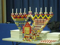 (Golda Och Academy) Tags: lego menorah hanukkiah legomenorah