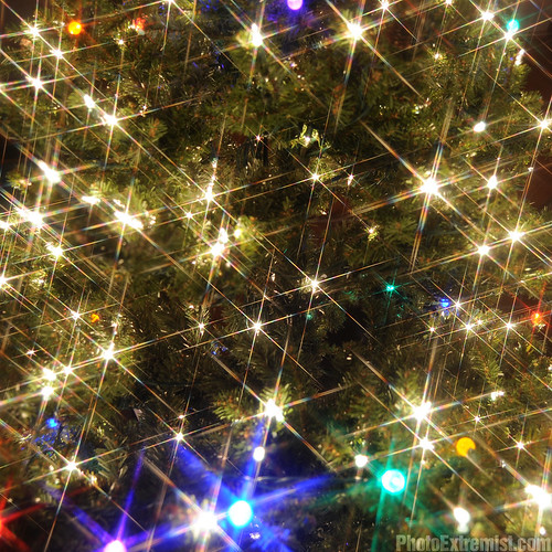 Christmas Tree Lights with 6X Cross Filter