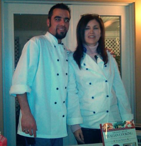 Chefs Geoffrey Johnson and Maria Liberati