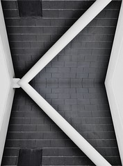The white K (Duarte Santos [catching up]) Tags: white black geometric lines metal daylight nikon triangle perfect day opposite geometry bricks kitlens right structure daytime 1855mm 1855 nikkor vr classe angled duarte sine trigonometry hypotenuse d5000 endaksi
