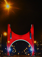 mnstr (duboramic) Tags: bridge museum night puente noche bilbao museo