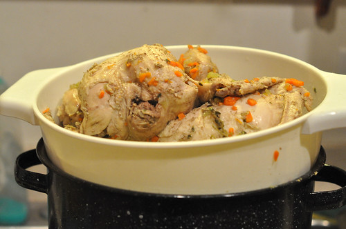 Drained Poached Chickens