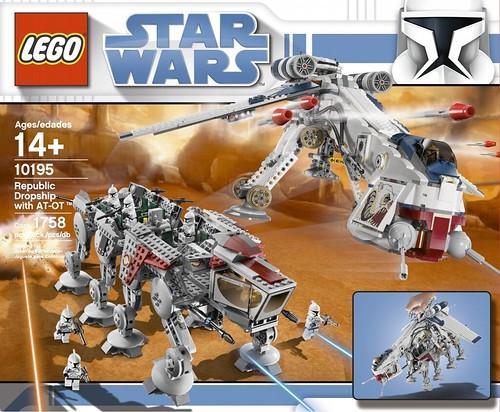 lego 10195 star wars republic dropship with at ot walker set brand new sealed ebay. Black Bedroom Furniture Sets. Home Design Ideas