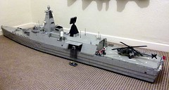 Frigate HMS Ardent 9-12-10 (Babalas Shipyards) Tags: ship lego military navy helicopter frigate warship minifigure moc asw