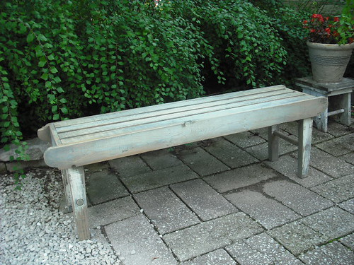 Rustic Painted Benches 02