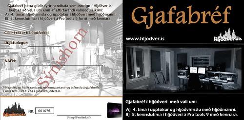 Gjafabréf í www.hljodver.is
