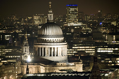 St Pauls by night from above (cg_1980) Tags: street city building london st architecture cathedral swiss district pauls re lime financial willis lloyds