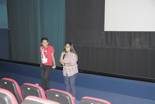 Mikhail Red and Joy Aquino after short film screenings