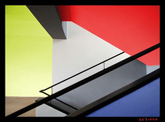 like Mondrian (sediama (break)) Tags: blue red white color rot yellow architecture stairs germany grey colours pentax steps grau treppe explore gelb staircase architektur bauhaus handrail colourful banister blau frontpage mondrian farbig bunt stufen dessau escaliers treppenhaus gelnder weis colorphotoaward sediama stiftungbauhaus bbbimgp4554kopie