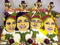 """Hand Piped Caricature/Elf'd Christmas Holiday Cake by Tony """"The Pastryarch"""" Albanese (The Pastryarch) Tags: christmas party holiday cake foods market chocolate cartoon tony wholefoods whole elf caricature northeast piping yourself tone regional wholefoodsmarket byhand albanese allnatural elfd tonetone elfyourself tonyalbanese"""