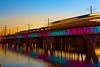The Metro (D.Dorman) Tags: bridge arizona sky water night outdoors lights flickr metro tempe twop canonites clickcamera phoenixlightrail canondigitalrebelxs davedormanphotography