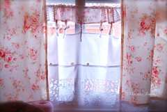 New curtains (jemerasp) Tags: curtains cortinas maryrose craftroom shabbychic lecien fabricroses stichingroom habitacindecostura