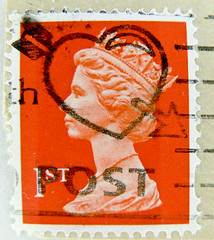 "beautiful stamp Great Britain UK GB 1st-class Briefmarke timbre Machin Great Britain GB England Commonwealth Grossbritannien Queen Elizabeth QEII UK United Kingdom selo postage ""Heart"" 1st Royal Mail Windsor (stampolina) Tags: uk greatbritain red portrait england"