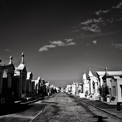 'until my legs give out from underneath me. till the lights go out.' (red.dahlia) Tags: blackandwhite neworleans cemetary graves squareformat nola eminem thedead aboveground tillicollapse musicallychallenged