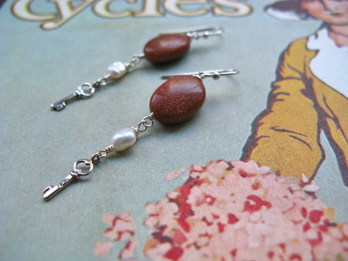 Keys of Calm earrings in goldstone