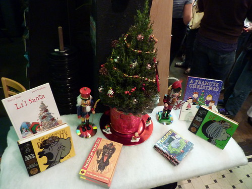 Christmas display, Fantagraphics Bookstore & Gallery, Dec. 11, 2010