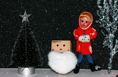 ON a winter's day.............. (The Dolly Mama) Tags: christmas holiday night toy toys doll starry danbo revoltech danboard